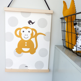 Poster babykamer oker | aap