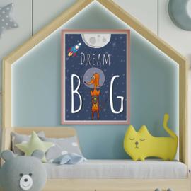 Poster kinderkamer | Dream big - Wally