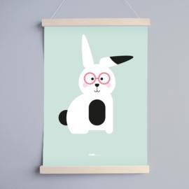Poster babykamer konijn