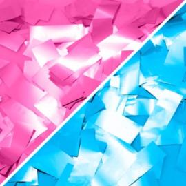 Confettikanon roze of blauw