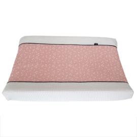 Aankleedkussenhoes roze | triangles
