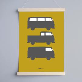 Poster babykamer oker | busjes