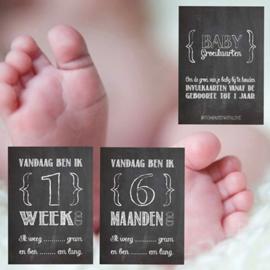 Groeikaarten baby | krijt