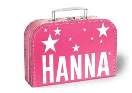 Koffertje met naam | Sterretjes