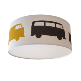 Plafondlamp babykamer okergeel | Busjes