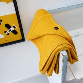 Ledikant deken wafelstof   kleur naar keuze