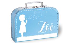 Koffertje met naam | Bellenblazen