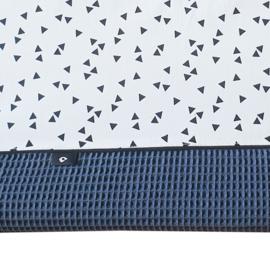 Aankleedkussenhoes  wafelstof | triangle wit