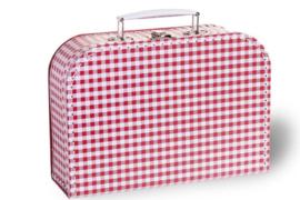 Koffertje rood-wit geruit
