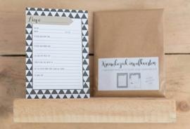 Kraambezoekkaarten | Monochrome