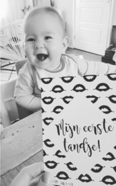 Mijlpaalkaarten baby   monochrome