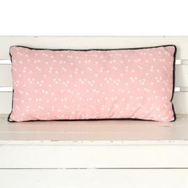 Kussen roze | triangles | 50 x 25 cm