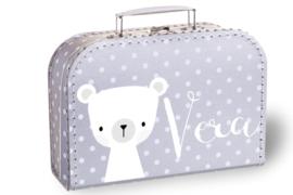 Kinderkoffertje met naam | Beertje