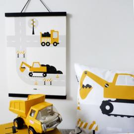 Poster kinderkamer | Graafmachine oker