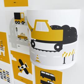 Wandlamp kinderkamer | voertuigen okergeel