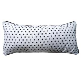 Kussen sterren wit zwart | wafelstof | 50 x 25 cm