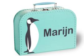 Koffertje met naam | Pinguïn