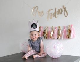 Vilten verjaardagskroon | Roze