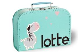 Koffertje met naam | Zebrapaardje