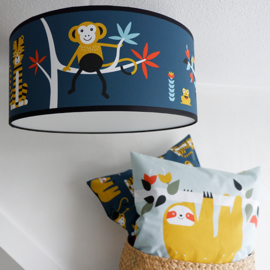 Plafondlamp babykamer | jungle blauw