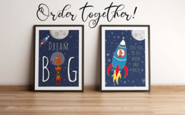 Poster babykamer   Love you to the moon - Wally