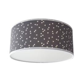Plafondlamp babykamer grijs triangles