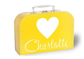 Koffertje met naam   Hart