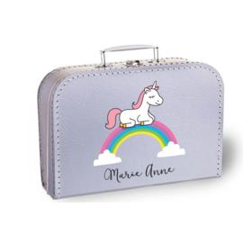 Koffertje met naam | Unicorn