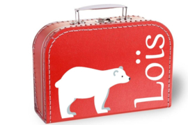 Koffertje met naam   Ijsbeer