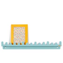 Doodle drop plank | Pastel blauw