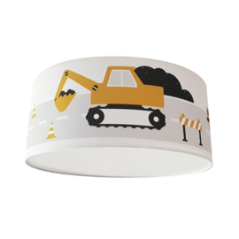 Plafondlamp kinderkamer | voertuigen okergeel