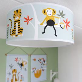 Plafondlamp kinderkamer | jungle old green