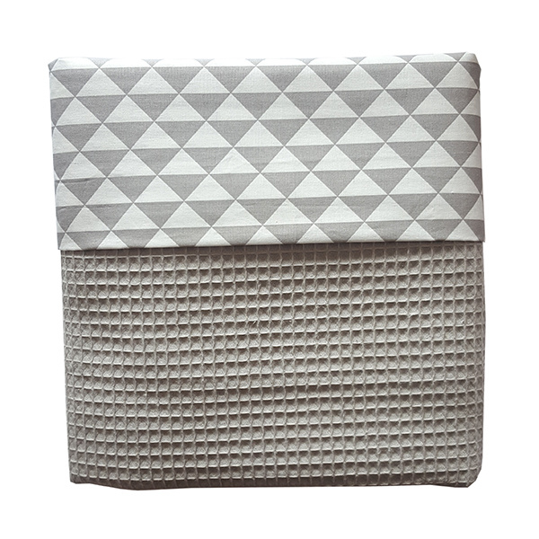 Ledikantdeken grijs | driehoek