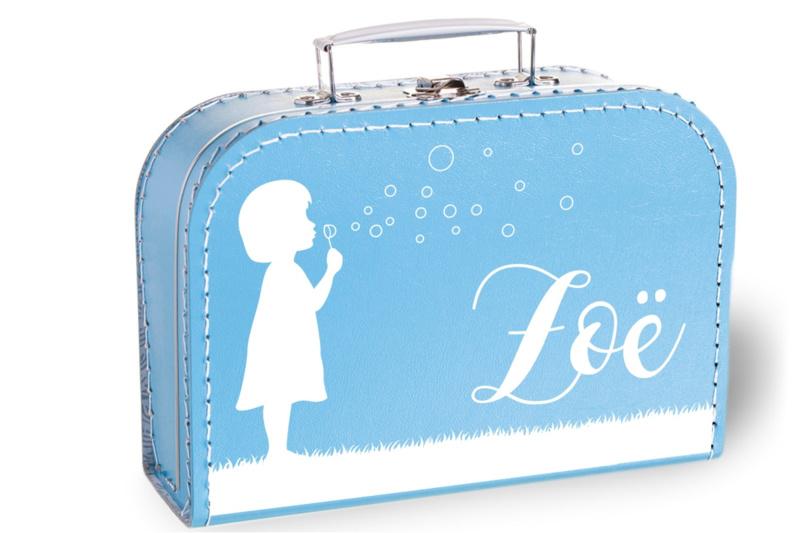 Koffertje met naam   Bellenblazen