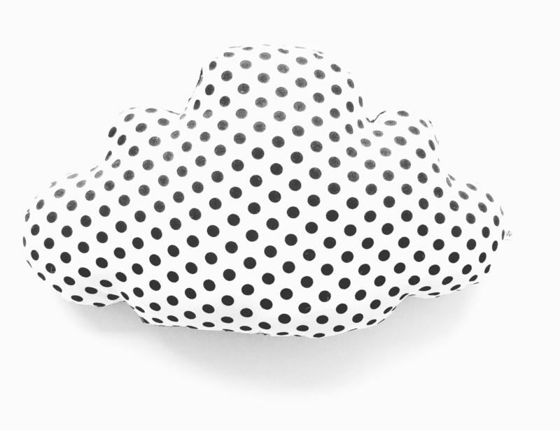 Kussen wolk | monochrome stip