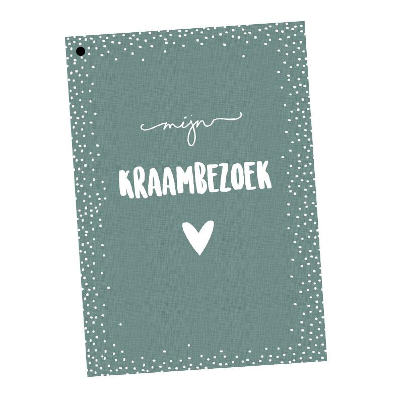 Kraambezoekboek | groen | 25 kaarten