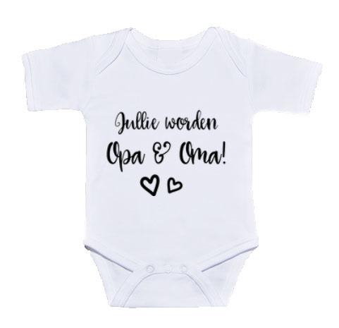 Spiksplinternieuw Jullie worden opa en oma   Rompertje   Aankondiging zwangerschap CS-85