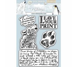 Natural Rubber Stamp Arctic Antarctic Leave Your Print