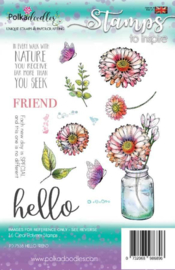 Hello Friend Clear Stamps