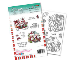 Sleigh the Season Clear Stamps