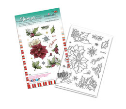 Merry Christmas Poinsettia Clear Stamps