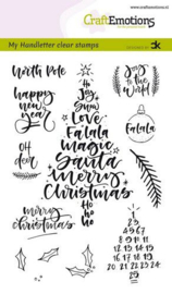 clearstamps A6 - handletter - Christmas 1 (Eng) Carla Kamphuis