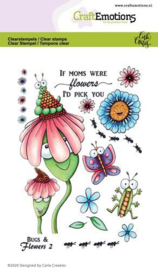 clearstamps A6 - Bugs & flowers 2 Carla Creaties