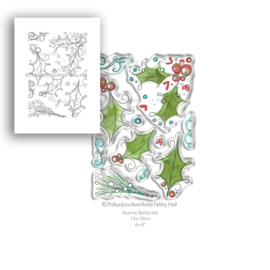 Ho Ho Holly Clear Stamps