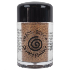 Cosmic Shimmer sparkle shaker gold flame
