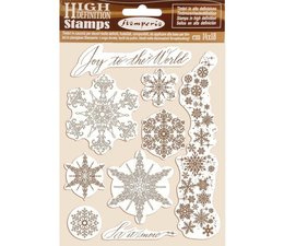 Natural Rubber Stamp Snowflakes