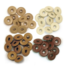 Wide eyelets x 40 Brown
