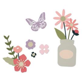 Sizzix thinlits die set garden florals by My Life Handmade