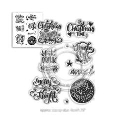 Merry & Bright Christmas Greetings Clear Stamps