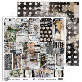"""Scrapbooking paper """"In the past""""""""-sheet 12'x12'"""